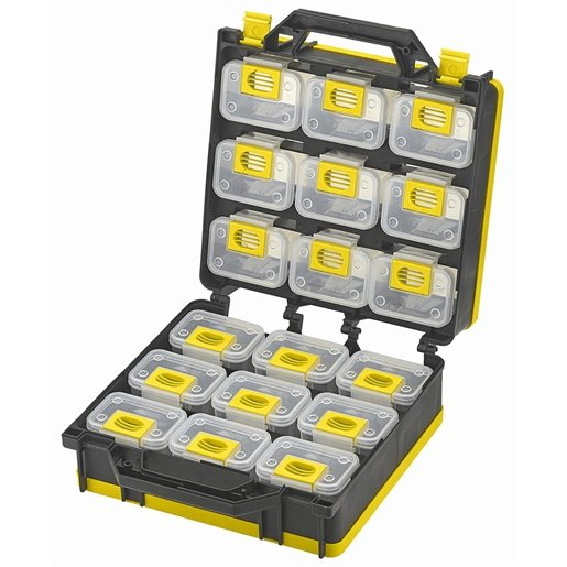 Storage Case 2- Sided 18 bins with Carry Strap