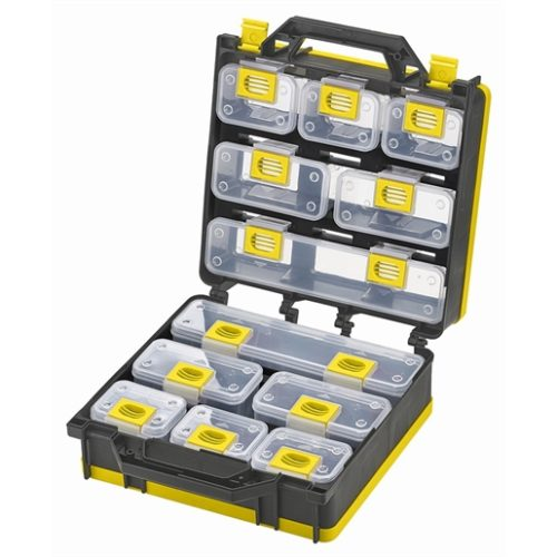 Storage Case 2- Sided 12 bins with Carry Strap