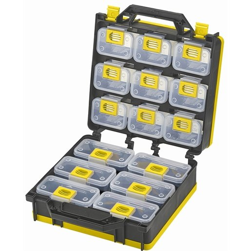 Storage Case 2- Sided 15 bins with Carry Strap