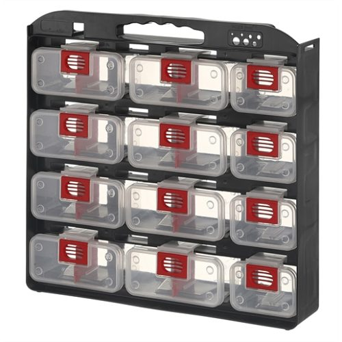 Storage Case 1- Sided 12 bins with Carry Strap