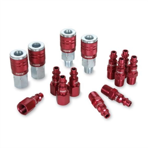 "COLORCONNEX TYPE D 14PC 1/4"" BODY COUPLER & PLUG K"