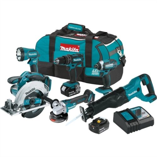 18V LXT 3.0 Ah Cordless 6-Piece Combo Kit