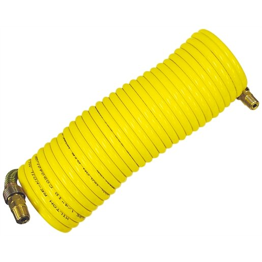 3/8 in. x 25 ft. Nylon Re-Koil Air Hose, Yellow