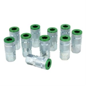 ColorFit Couplers, A-style Green, Box of 10