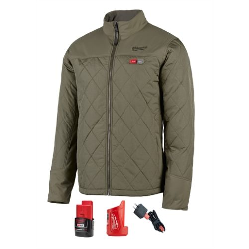 M12 HEATED AXIS JACKET KIT, SIZE SMALL (OLIVE GREEN)