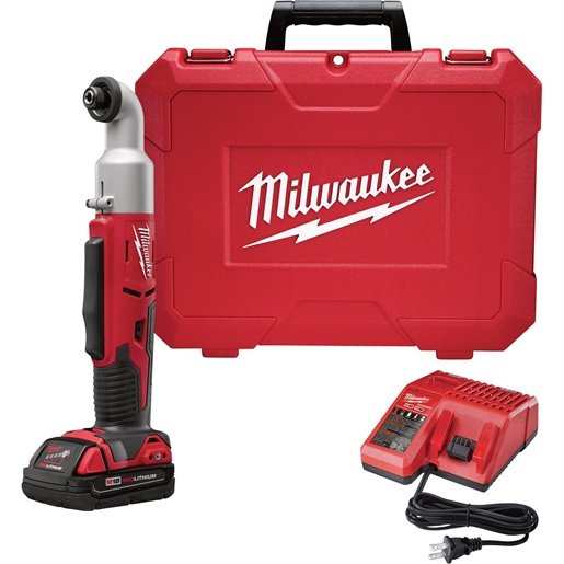 """M18 CORDLESS 2-SPEED 1/4"""" HEX RIGHT ANGLE IMP DRIVER KIT"""