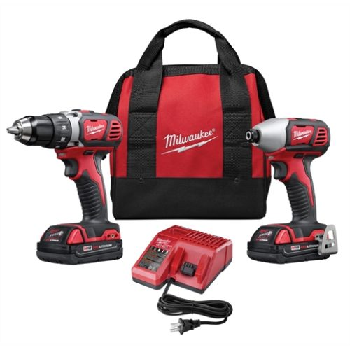 2-PC M18 COMP LITHIUM ION DRILL/DRIVER IMP WRENCH COMBO (2) BATT KIT