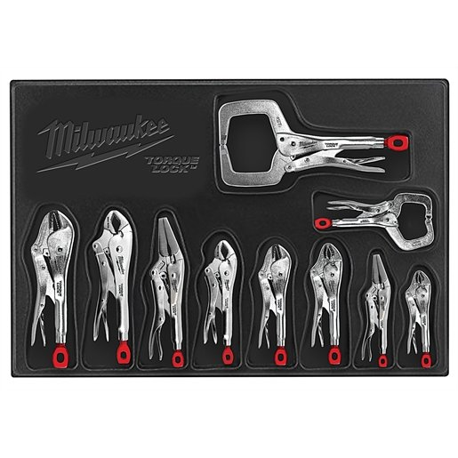 10-PC TORQUE LOCK CURVED JAW PLIERS KIT