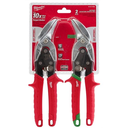 2-PC OFFSET AVIATION FORGED BLADE SNIP L/R SET