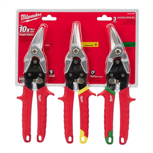 3-PC AVIATION SNIPS (LEFT, RIGHT, STRAIGHT) SET