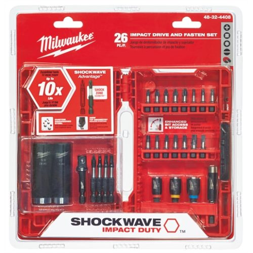 26-PC SHOCKWAVE DRIVE FASTEN SET