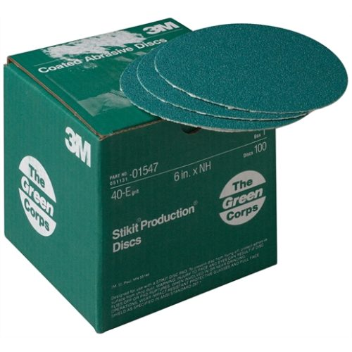 PRODUCTION DISCS STIKIT GREEN CORPS 40E 6IN 100/BX