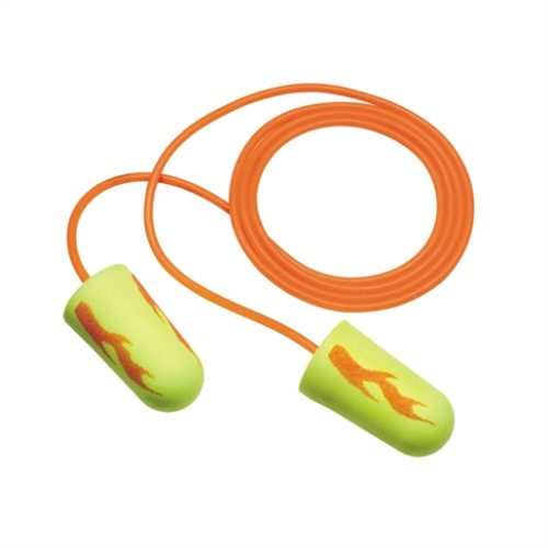 3M E-A-Rsoft Corded Earplugs Neon Yellow Blasts