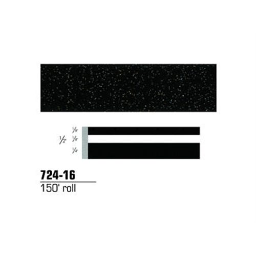 "STRIPING TAPE-BLACK STARDUST 1/2"" DOUBLE 150' ROLL"