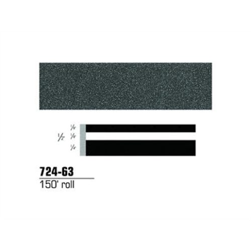 "STRIPING TAPE-CHARCOAL METALLIC 1/2"" DOUBLE 150'RL"