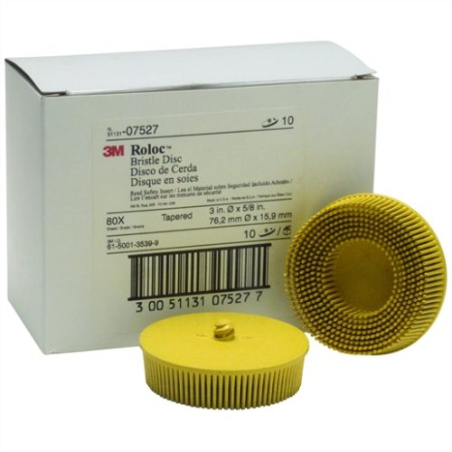 "DISC ROLOC BRIS 80GR 3"" 10/BOX YELLO"
