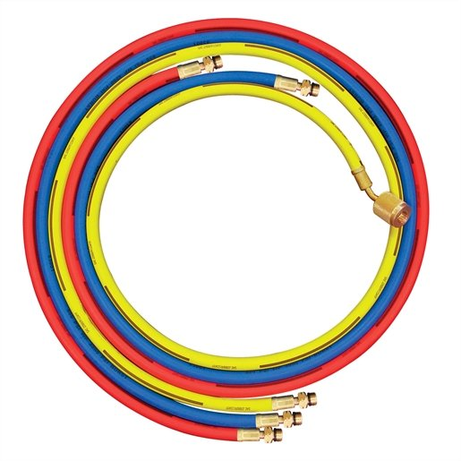 R1234yf set of 3 hoses. Red, blue and yellow