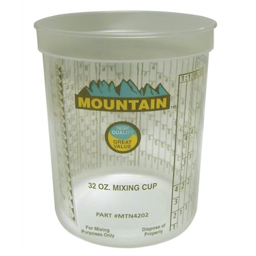DISPOSABLE QUART MIXING CUP (100/CS)