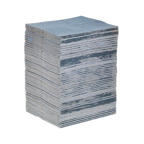 New Pig 15 in. x 19 in. Blue Absorbent Mat Pad (10