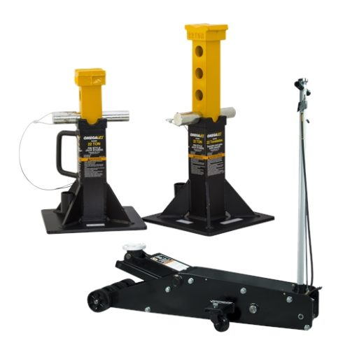 20 ton service jack with free 22 ton jack stands