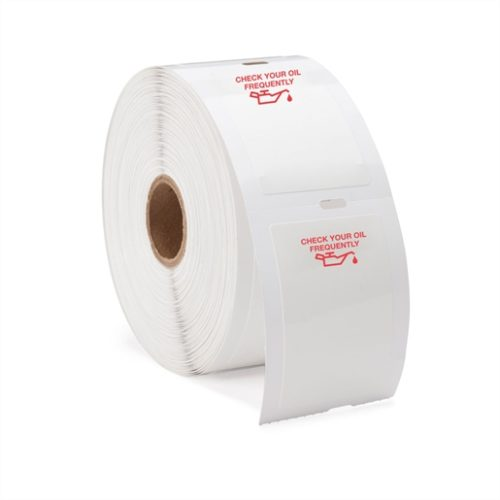(1 Roll/500) Generic Labels w/Red Oil Can Image