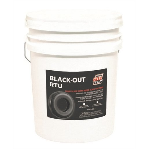 5GAL Black Tire Paint, RTU Water Based