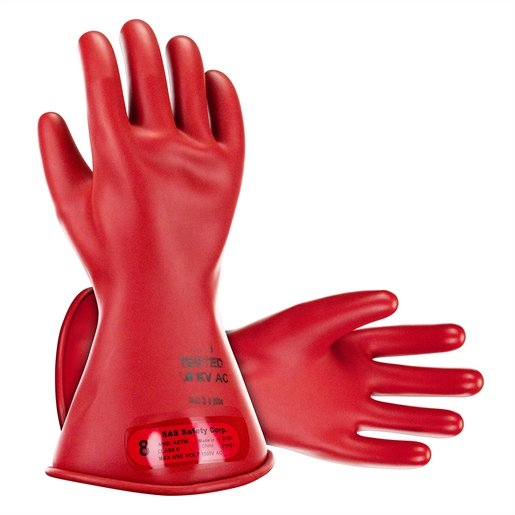 1-pr of Class 0 Type I Electric Service Gloves, L