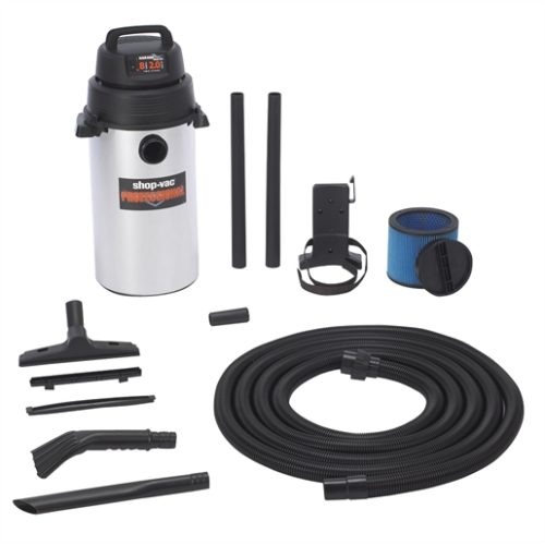 Wall Mount Stainless Steel Garage Vac