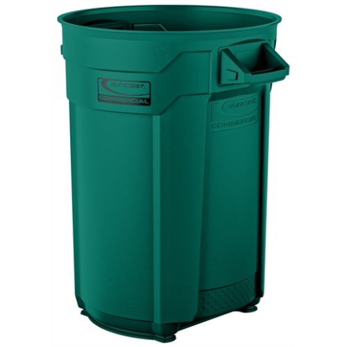 Suncast Commercial 44 Gal Utility Trash Can Green