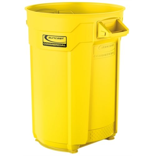 Suncast Commercial 44 Gal Utility Trash Can Yellow