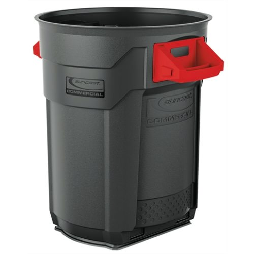 Suncast Commercial Blow Molded Utility Trash Can,