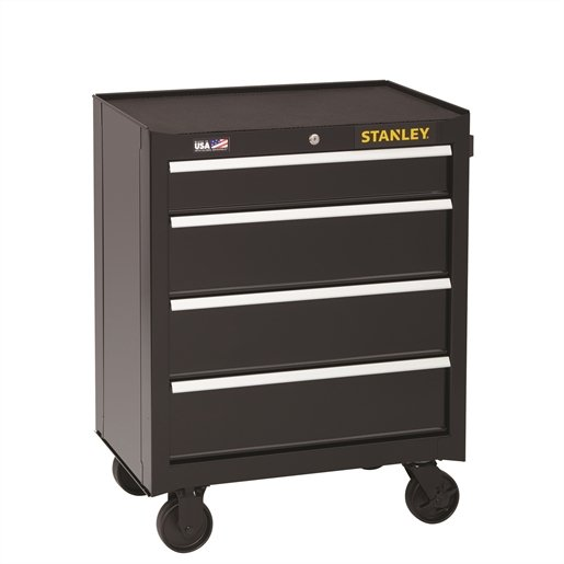 Stanley 4-Drawer Rolling Cabinet, 26.5 in.