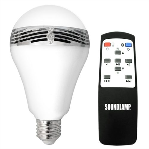 SoundLamp LED Light Bulb with Bluetooth Speaker