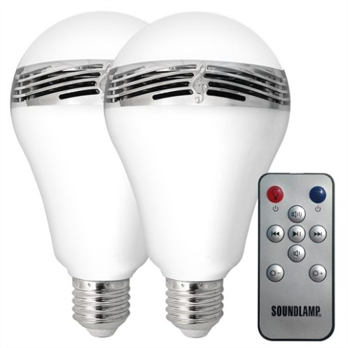 LED Light Bulb with Bluetooth Speaker (2-Pack)