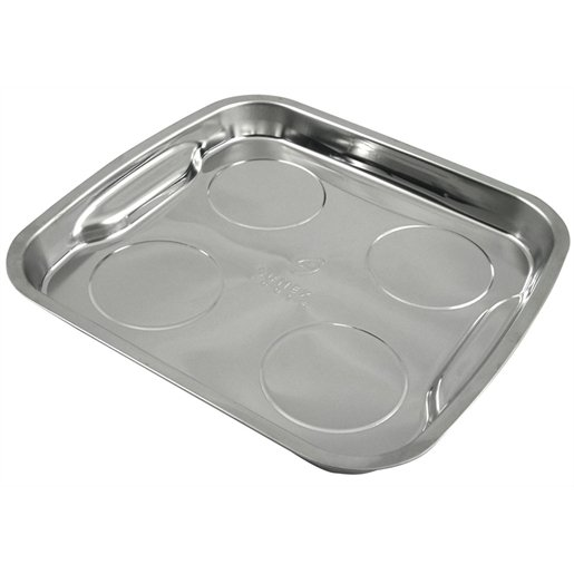 """PARTS DISH MAGNETIC 11-1/2"""" X 11"""" STAINLESS STEEL"""