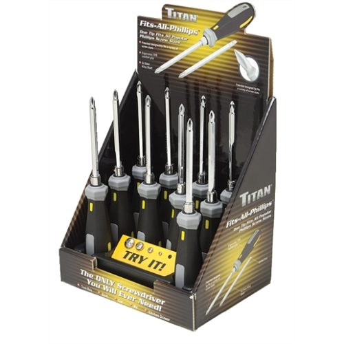ONE-TIP-FITS-ALL SCREWDRIVER COUNTER D