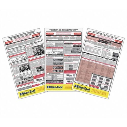 OSHA poster kit for tire safety
