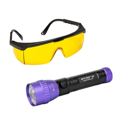 OPTI-PRO UV cordless, violet light LED flashlight