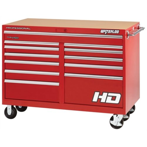 "56"" Wide x 30"" Deep 12-Drawer Cabinet - Red"