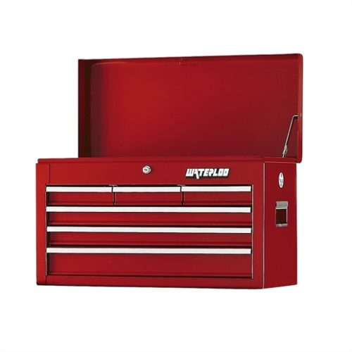 26 TOOL CHEST WITH BALL BEARING SLIDES RED