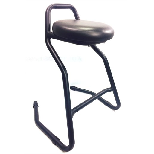 Robust and comfortable garage stool