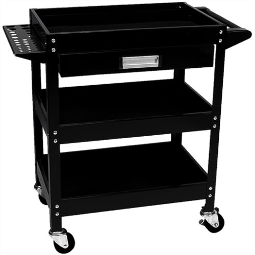 3-Shelf Utility Cart w/Drawer